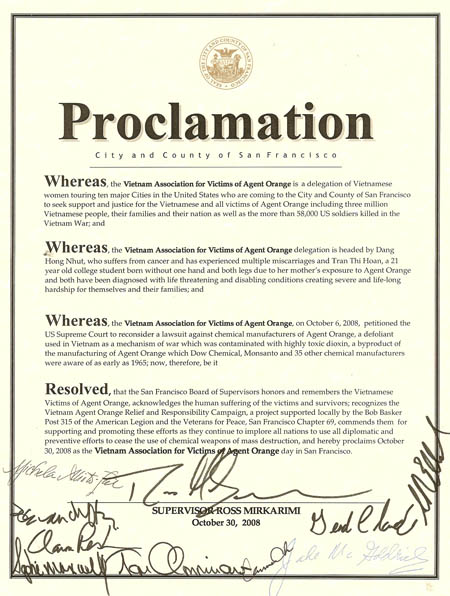 Proclamation of SF