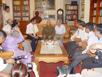 Meeting with Gen Giap
