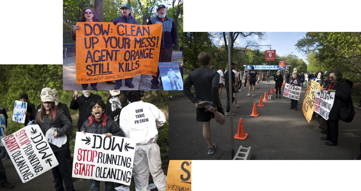 Dow: Run for Your Life! Protest