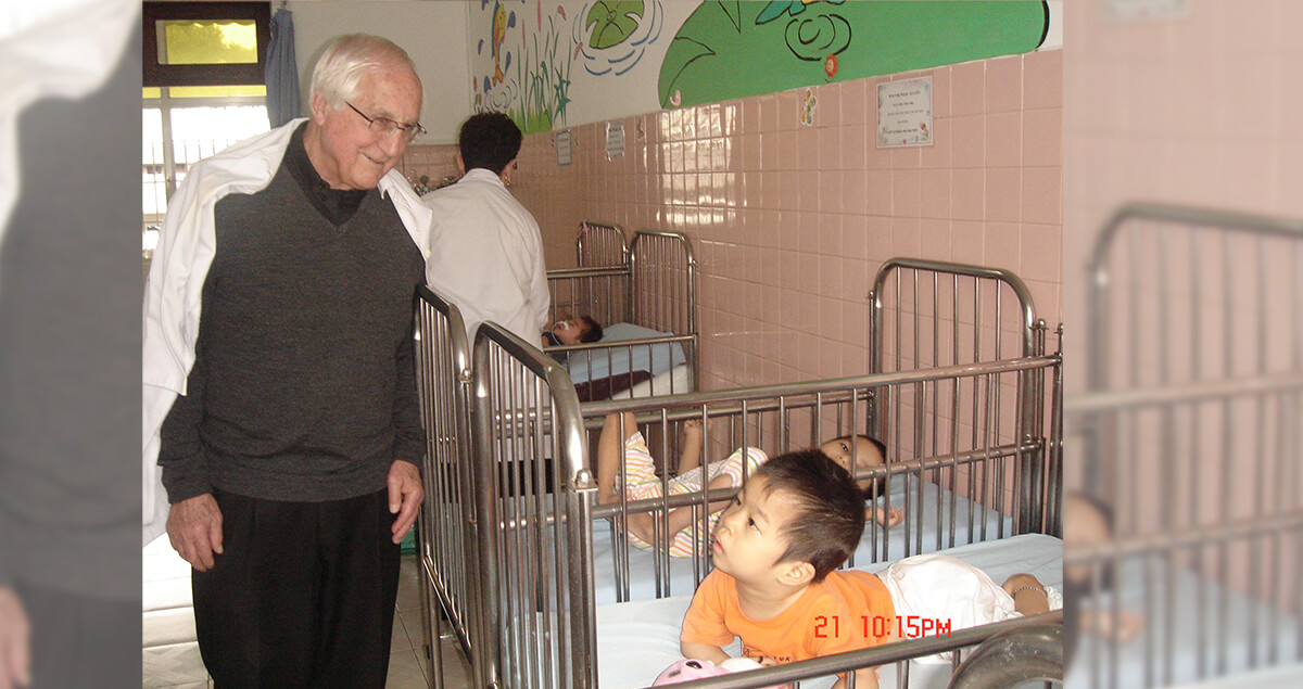 Bishop Thomas Gumbleton visits Agent Orange victims in Vietnam