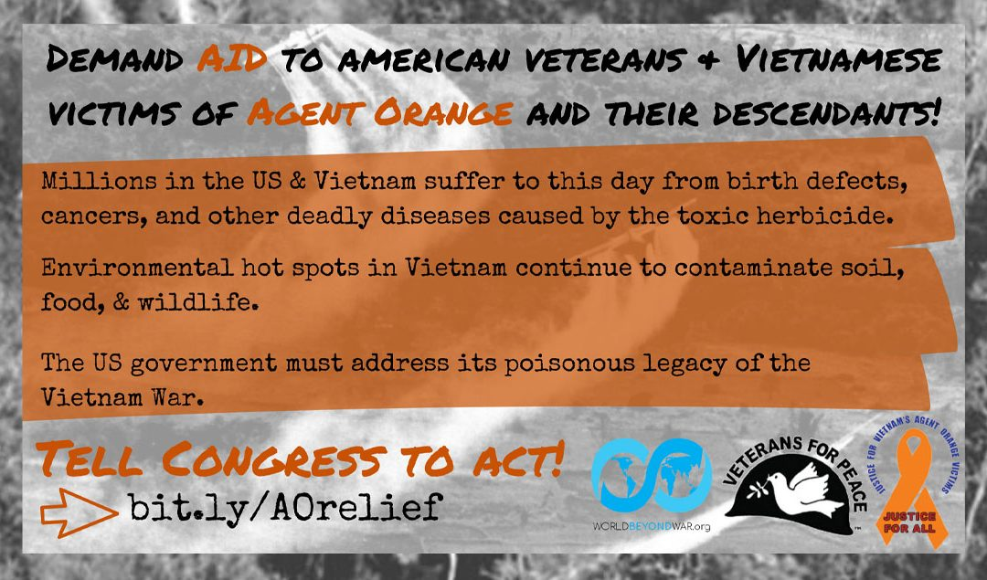 Take action:  Help American Veterans and Vietnamese Victims of Agent Orange